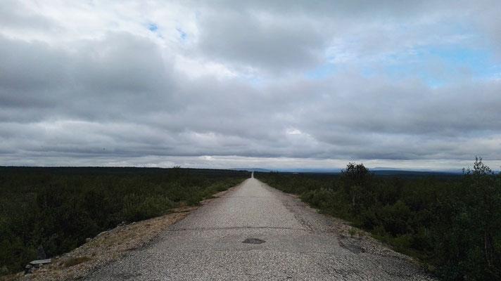 Die Landstraße nach Kautokeino