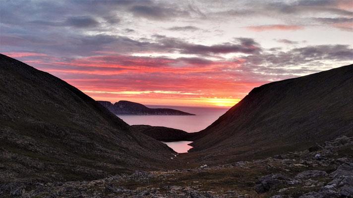 Sonnenuntergang am Nordkap - einen schöneren letzten Abend hätte ich mir nicht vorstellen können