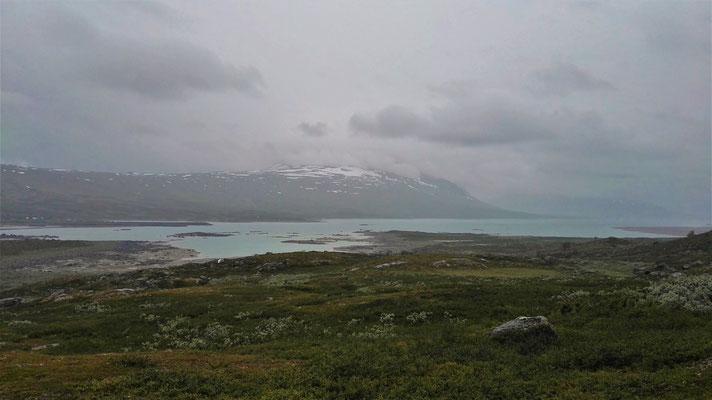 Die herrliche Landschaft lässt sich heute nur erahnen