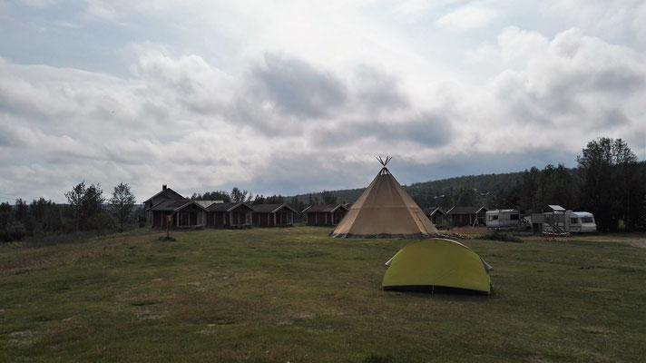 Auf dem Campingplatz in Kautokeino - viel los ist hier nicht.