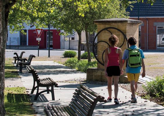 Circuit coeur historique - Place Marcadieu - Bastide de Garlin - Tourisme Nord Béarn Madiran