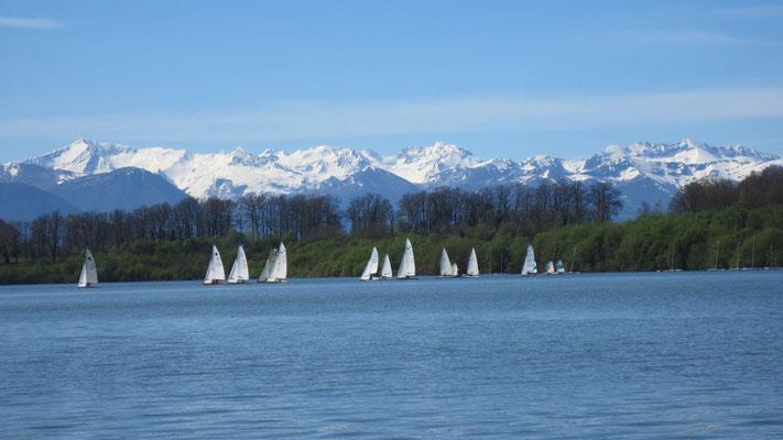 lac gabas voile lourenties  tourisme nord bearn crédit club nautique pyrénéen