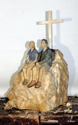Portrait Figuren auf Berggipfel