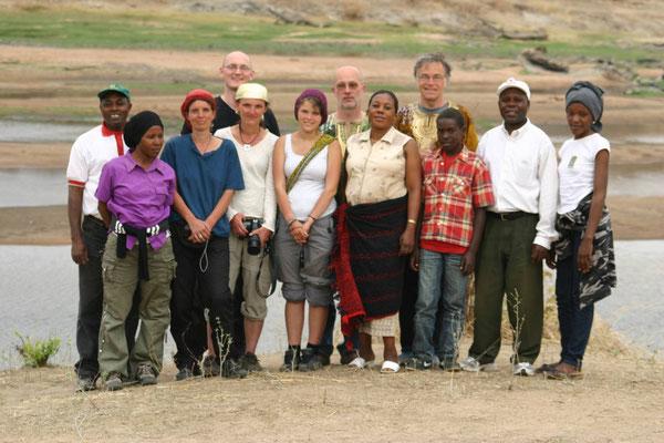 Projektpartner bei der Lernreise 2010 im Nationalpark