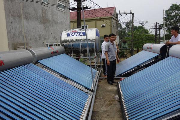 Fertiggestellte Solaranlage