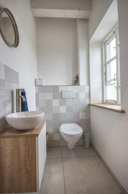 Gäste-WC im SPA-Bereich des Friesenhofs
