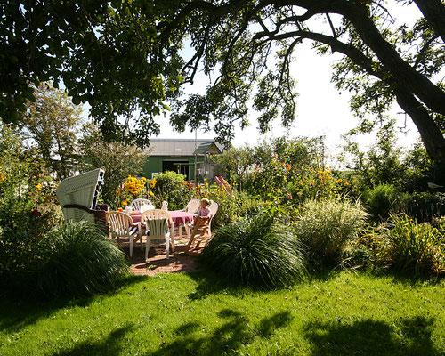 Gartenidylle in unserem großen Garten