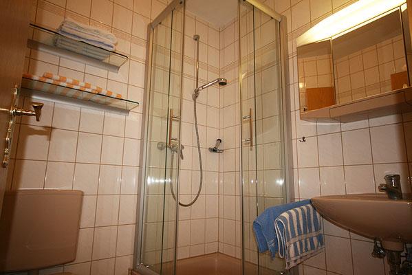 Badezimmer der Ferienwohnung Hooge