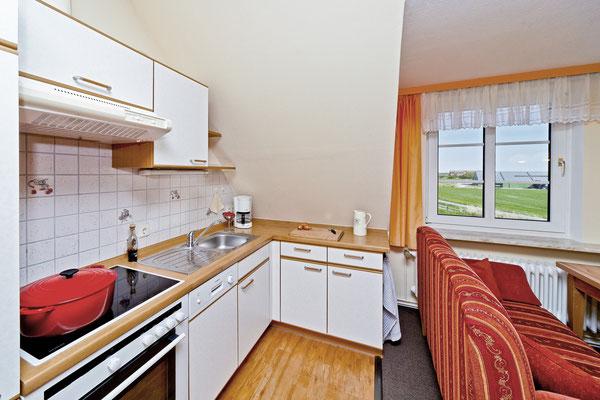 Küchenzeile in der Wohnung Norderoog