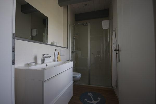 Badezimmer in der Ferienwohnung Schäfer's Loge