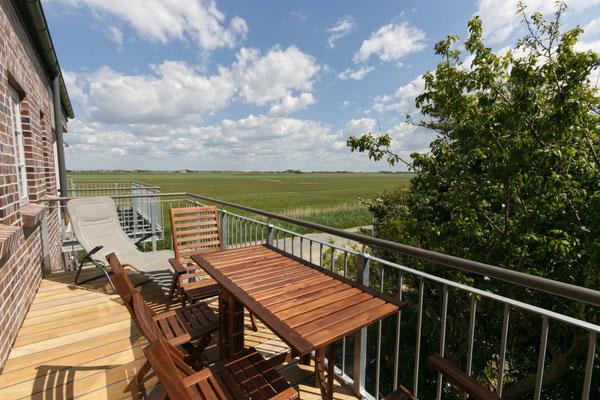 Ausblick vom Balkon der Ferienwohnung Schäfer's Loge