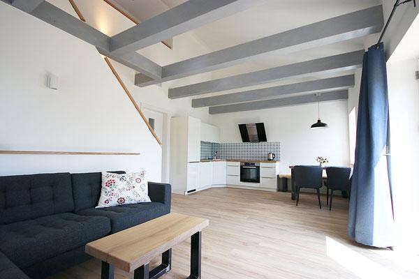 Wohnzimmer der Ferienwohnung Schäfer's Loge
