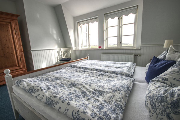 Schlafzimmer der Ferienwohnung Südfall