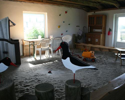Indoor-Sandkiste für Schlechtwetter-Tage