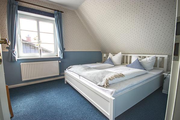Schlafzimmer in der Ferienwohnung Süderoog