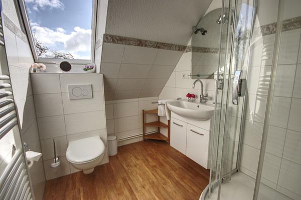 Badezimmer in der Ferienwohnung Süderoog