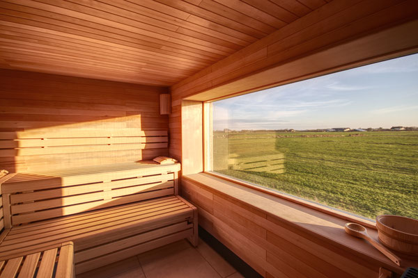 Panorama-Sauna auf dem Friesenhof