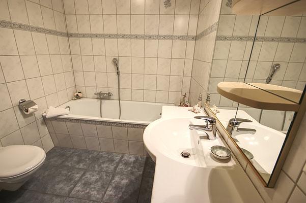Badezimmer in der Ferienwohnung Südfall
