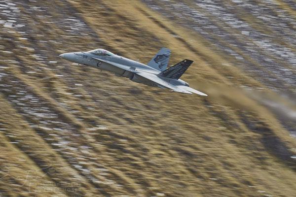 Swiss Air Force F18 Hornet at Axalp Ebenfluh