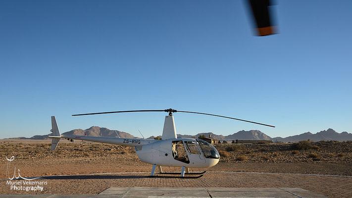 Sesriem Namib Hélicoptère