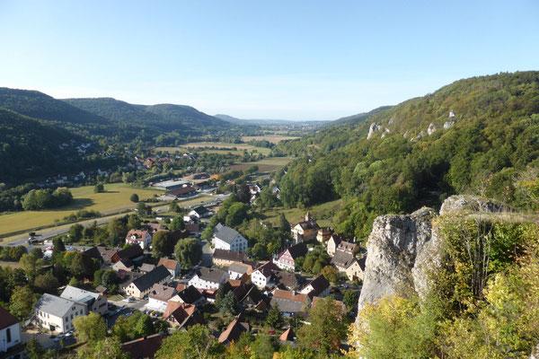 Der dritte Tag: Start in Streitberg, auf dem Weg zur Burgruine ...