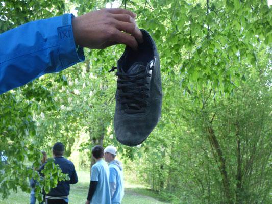 Chaussure de Brice perdue au départ du cross !!!