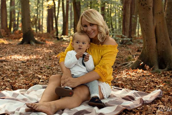 Paarshooting - Mutter Kind Shooting - Jenny und Sohn im Wald