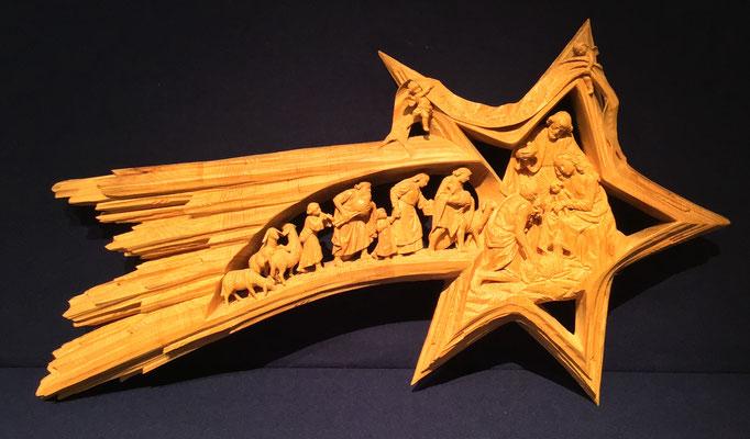 Komet mit Krippengeschehen, Norman Kostner, 2006, Gröden
