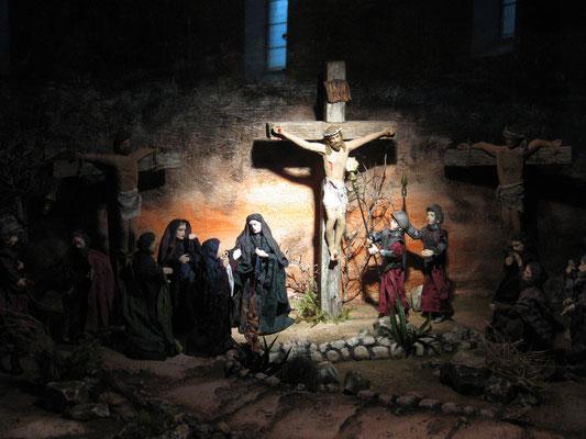 Kirchenkrippe Unken Passions-Kastenkrippe
