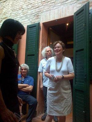 Da sinistra: gli artisti Franca Franchi, il compianto Gian Maria Battiato, Giuseppe Orsenigo, Catherine Schmid