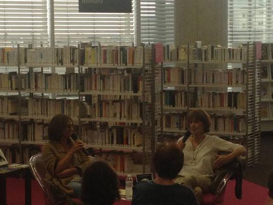 Rencontre à la Médiathèque de Bordeaux Mériadeck, Michèle Lesbre, Sophie Robin, Sophie Poirier, Une chambre à écrire