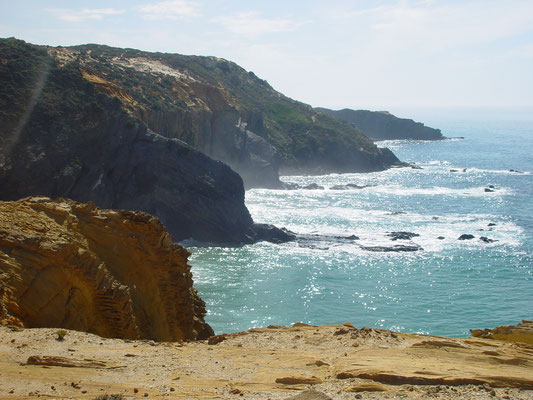 de kust bij Cabo Sardão