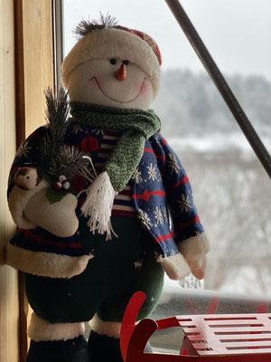 Schneemann in der Ferienwohnung