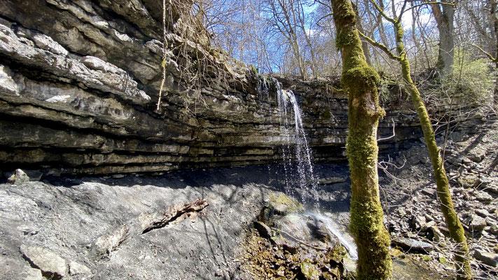 Wasserfall am wildromantischen Aubächle