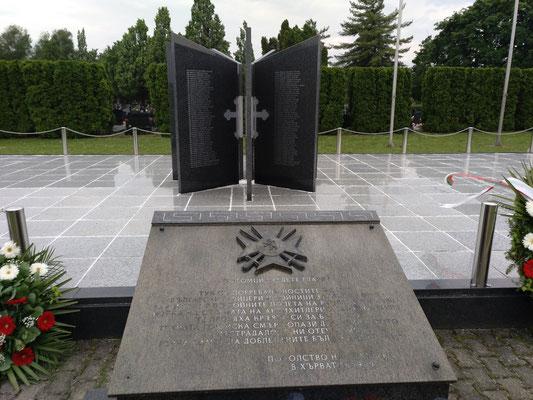 Denkmal für die Opfer des Kroatienkriegs. Steht bei Vukovar, dort wo das Massaker an der Bevölkerung stattfand