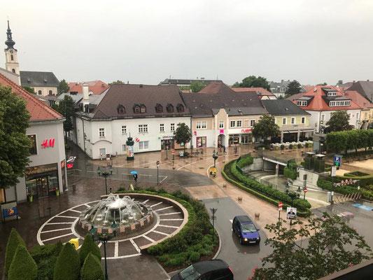 Hotelfensterblick