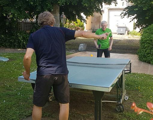 Tischtennis unter Greisen