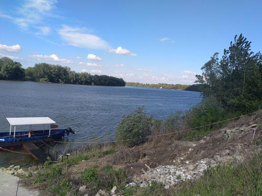 Donau an unserem Ferienhaus