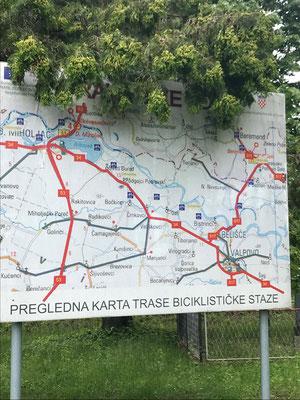 Viele Fahrradwege