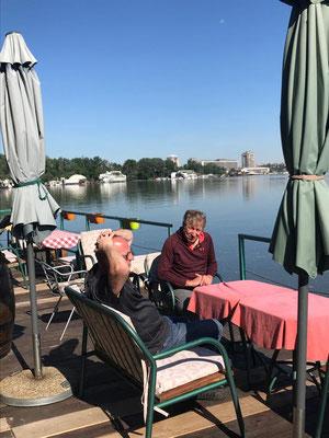 Terrasse auf dem Hausboot