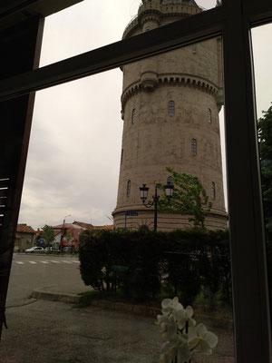 Wasserturm, Sicht aus dem Cafe