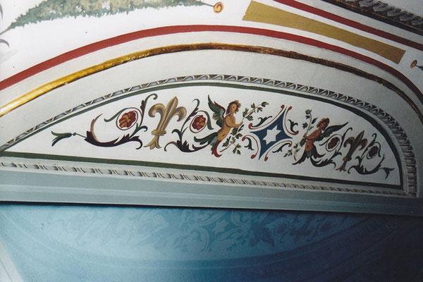 Riproduzioni di decorazioni - Decorazione ricavata  da elementi decorativi pre-esistenti - Biblioteca Apostolica. Vaticano - Rosa Decorazioni.