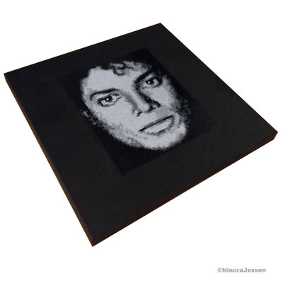 2017, Michael Jackson, aluminum&acrylic on canvas, 20in x20 in / 50,8cm x 50,8cm