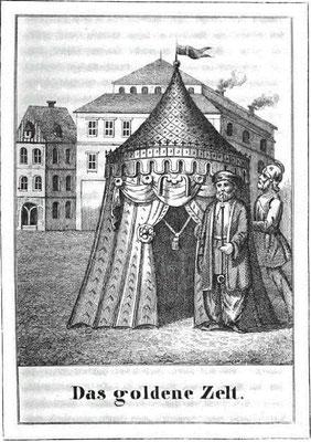 Illustration aus Relßieg, W. A.: Sagen und Legenden der Stadt Magdeburg und Umgegend. Magdeburg : Frynta ; 1847, S. 71.