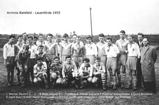 Arminia Bielefeld - Lauenförde 1955