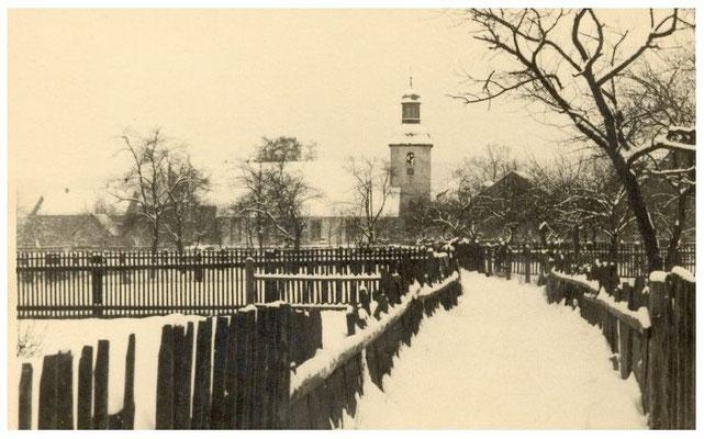 Sicht vom Kirchfeld aus 1940er Jahre