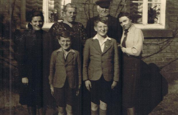 1938 Emilie und Karl Gauding mit den Kindern, Irmgard, Helmut, Karl und Elfriede