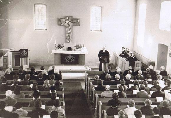 Gottesdienst mit Superintendet Grote, 1980er Jahre