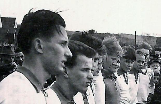 """Ausschnittvergrösserung """"Mittelkreis"""" - Arminia Bielefeld - Lauenförde 1955"""