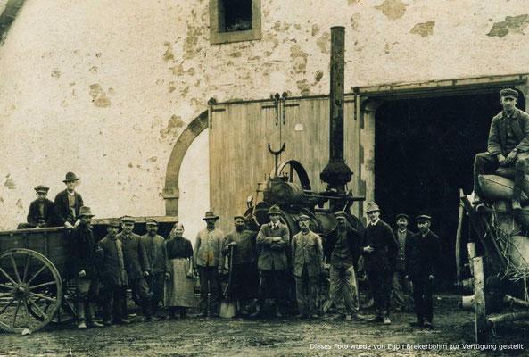 Die erste dampfmaschine in Lauenförde ausserhalb der Herlag
